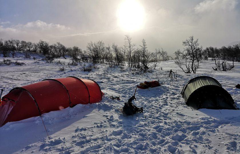 På vinterutbildning med Hilleberg